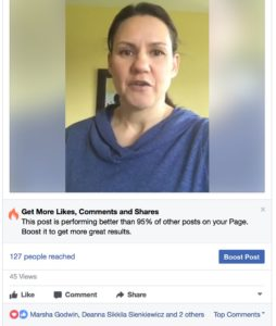 Facebook live example May 2